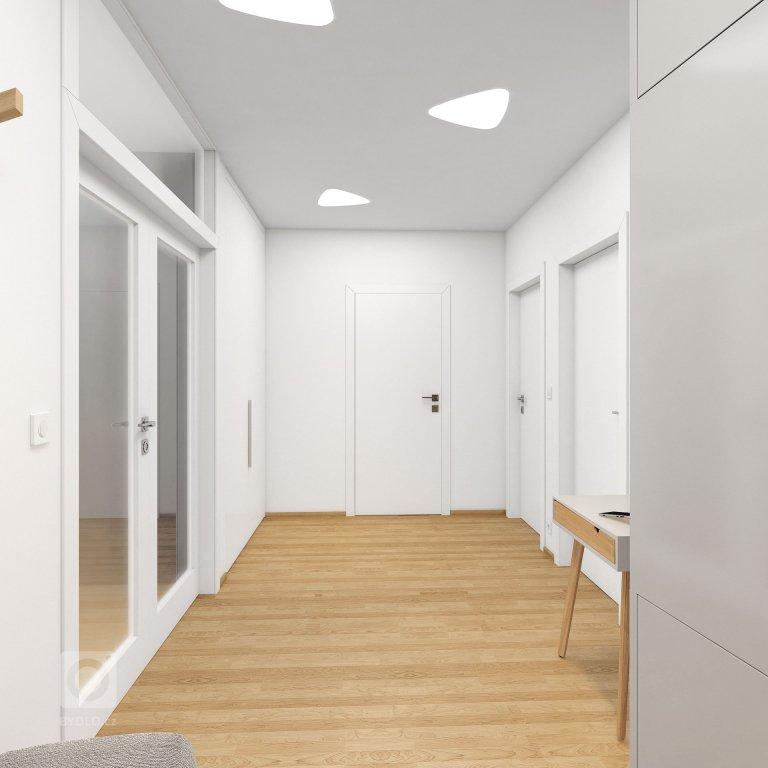 Návrh interiéru bytu sexkluzivním výhledem napřírodu iměsto. Návrh interiéru je vmoderním avzdušném stylu spřevládající…