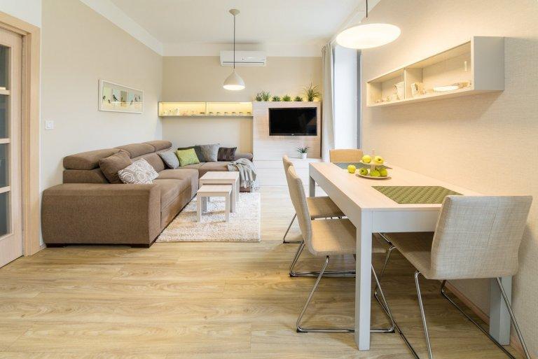 Obývací pokoj v novostavbě