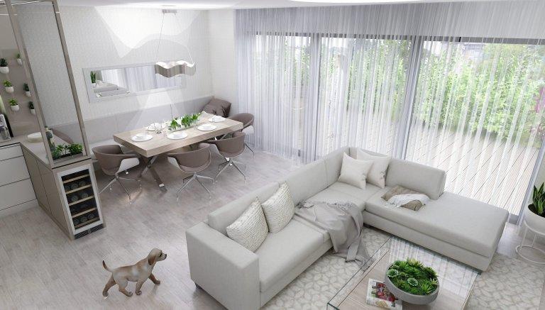 Světlý interiér v rodinném domě