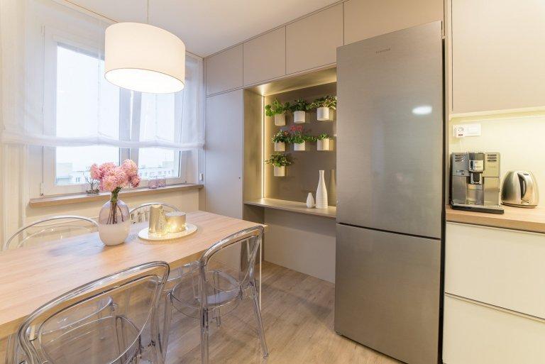 Interiér obývacího pokoje a kuchyně
