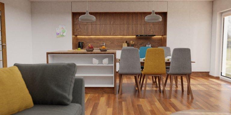Obývací pokoj pro pětičlennou rodinu