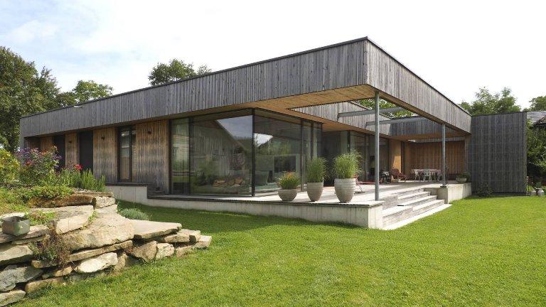 Dřevostavba jako kombinace dřeva a skla?