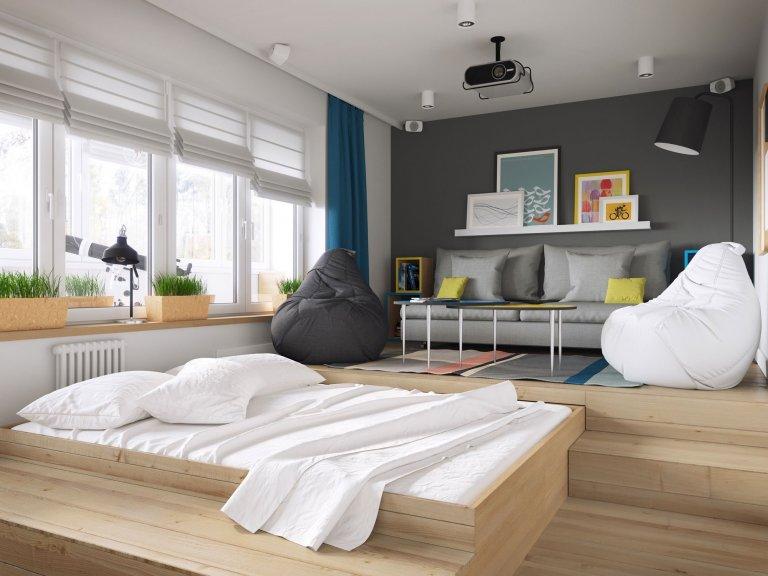 Boj o místo. Přesně takto lze charakterizovat zařizování každého malého bytu. O to horší je to s výběrem prostoru pro postel, která může zabrat i několik metrů čtverečních. I tak bychom ale měli dbát na to, aby byla místem, kde se budeme rádi vracet. A měla by být alespoň trochu mimo zbytek bytu. Jak tedy oddělit spaní v malé garsonce?