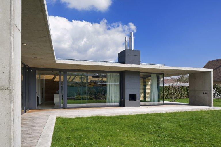 Jednopodlažní dům z betonu