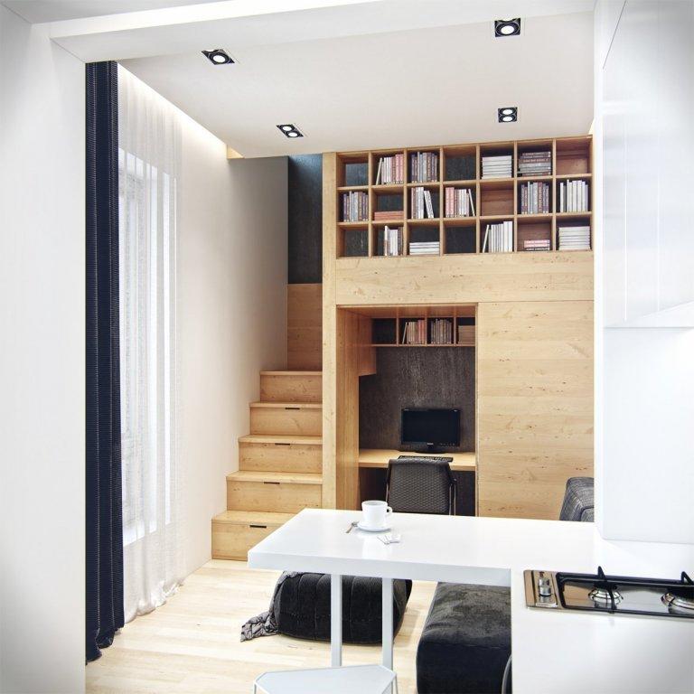 Malý mezonet skrývající moderně zařízený interiér