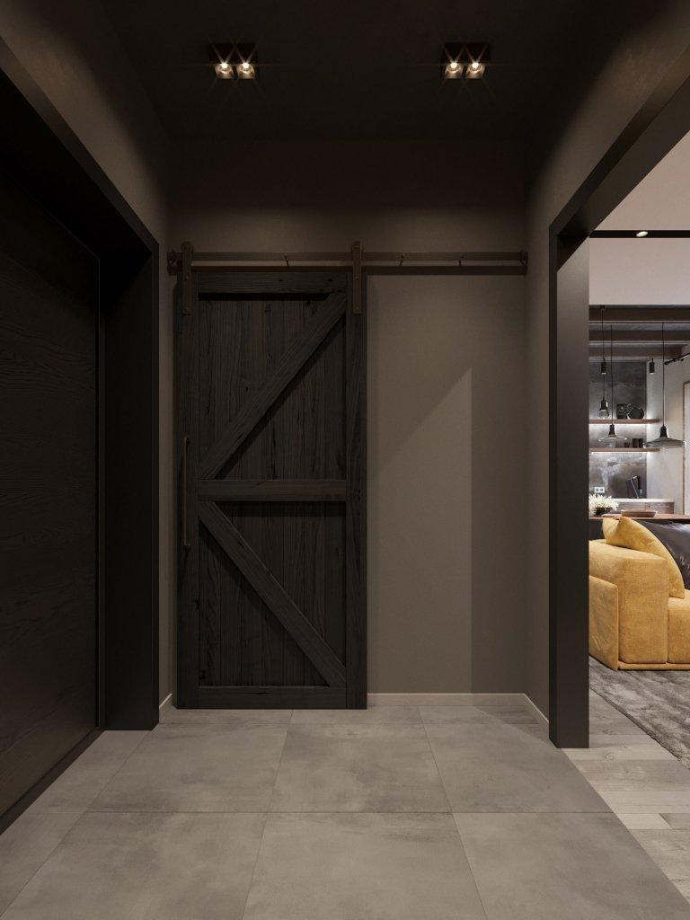 Moderní bydlení se žlutou sedačkou