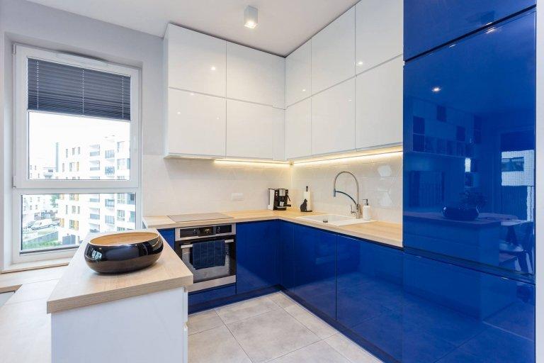 Modrá barva v interiéru