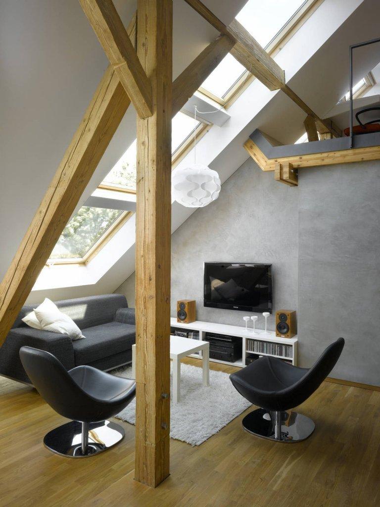 Netradiční loftové bydlení z půdy