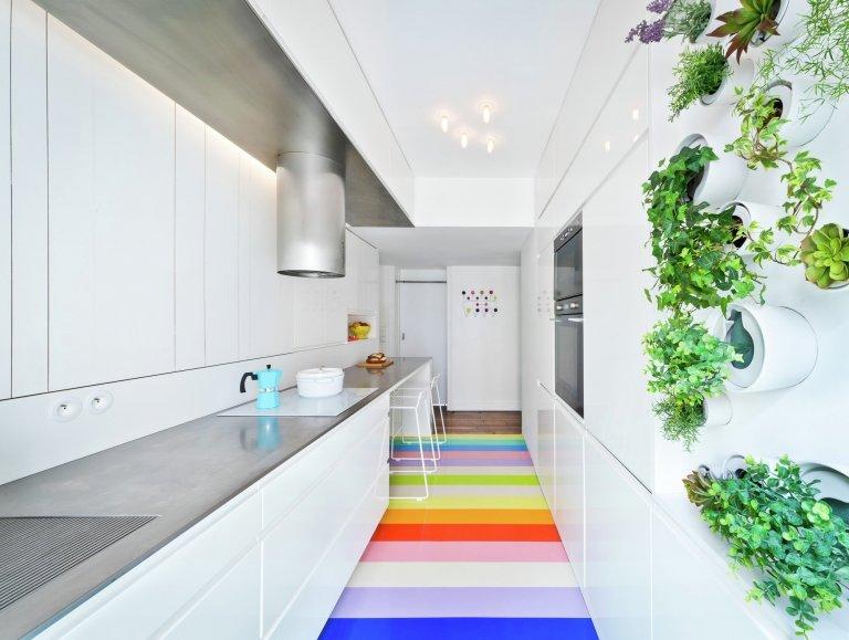Podkrovní bydlení pro módní návrhářku