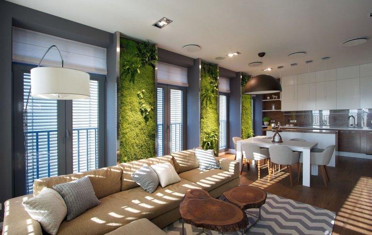 Zeleň v bytě? S vertikální zahradou nic nemožného