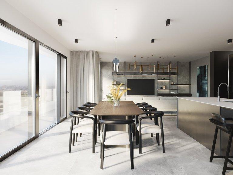 Prostorný byt situovaný v srdci Karlína je součástí nového rezidenčního projektu. Velkorysé prostory bytu jsou lemovány terasami, které dotváří soukromou oázu…