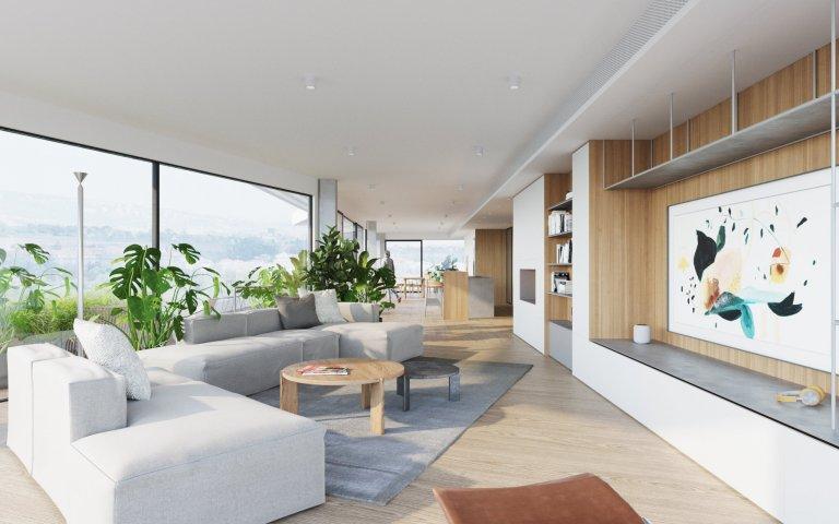 Modern penthouse s nekonečným výhledem