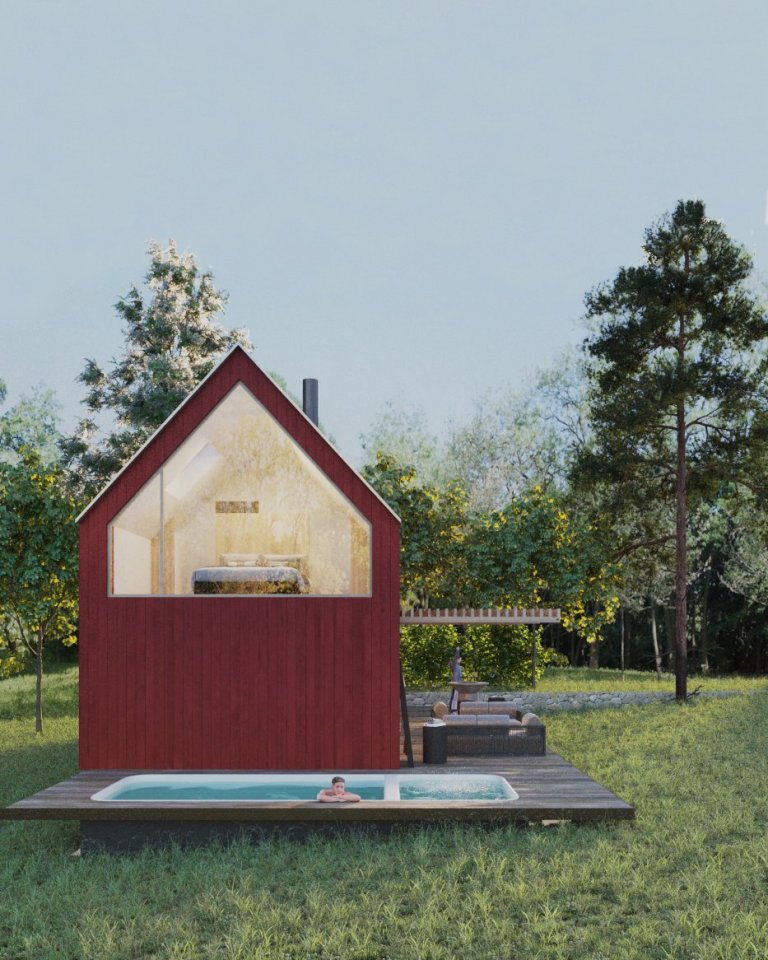 Pro milovníky nevšedního ubytování a relaxace v přírodě navrhujeme luxusní chatu skrytou v posázavských lesích. Rekreační objekt o ploše 90 m2 je vhodný pro…