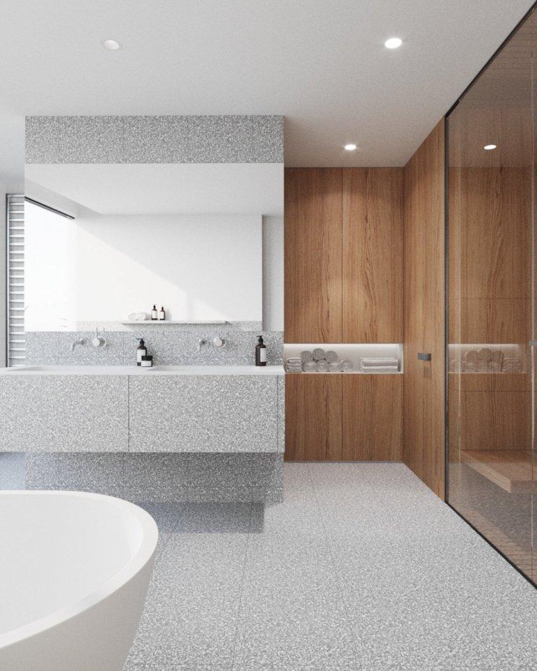 Nové bydlení pro našeho klienta se nachází v novém rezidenčním projektu na pravém břehu Vltavy. Nejvyšší podlaží penthousu je lemováno střešními terasami s…