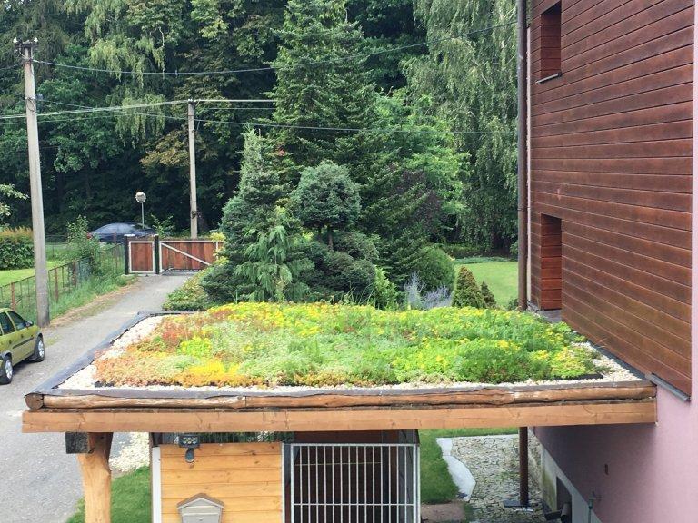 Zelená střecha Šenov