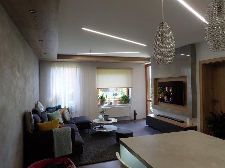 Reddesign bytu v Ostravě, kdy došlo k celkové rekonstrukci bytu od podlahy po strop.