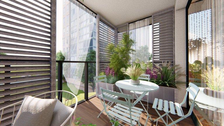 Balkon s výhledem v Holešovicích
