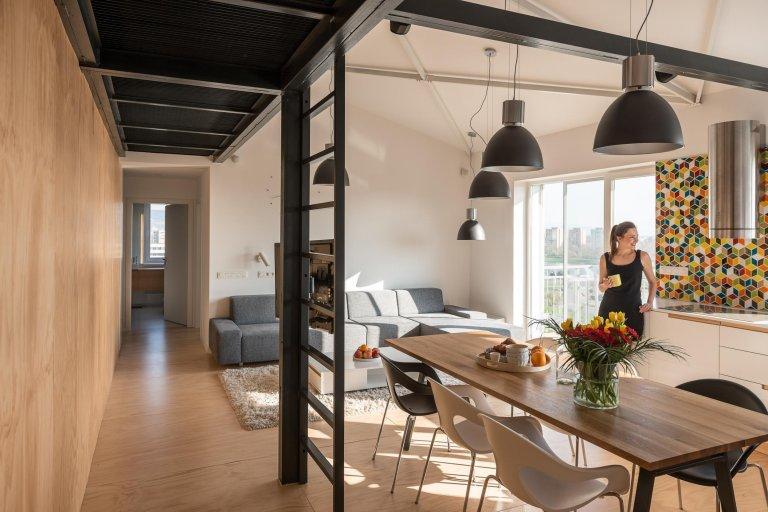 Loftový byt v nadstavbě