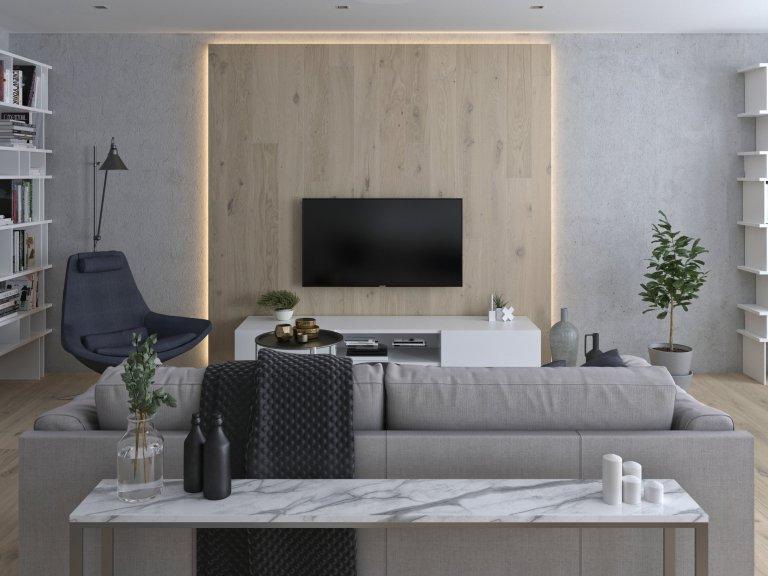 Kompletní návrh rekonstrukce apartmánu pro klientku, která žije většinu času v přírodě a do Prahy jezdí na schůzky.  Její potřeby sjednotit obývací,…
