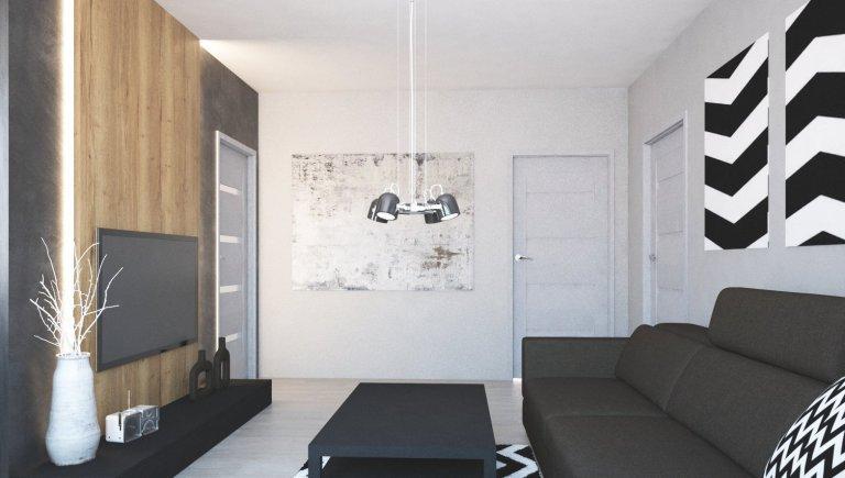 Vizualizace interiéru před rekonstrukcí