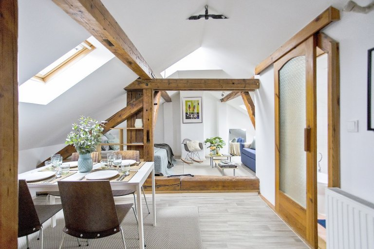 This small attic loft is located in the historical part of Prague, at the feet of the Castle and just a short walk from Charles Bridge. The goal was to…