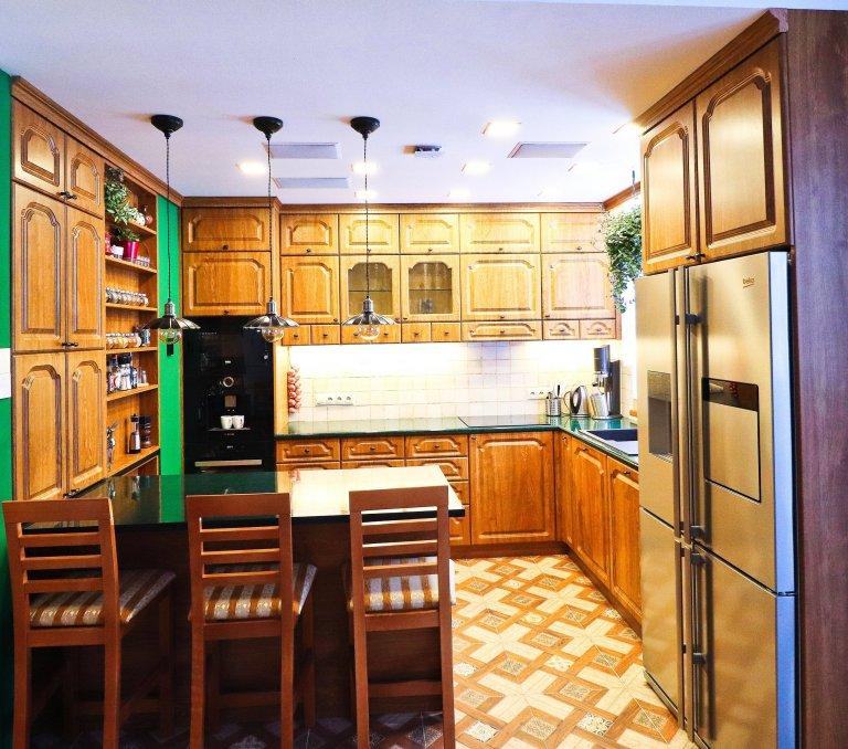 Rustikální kuchyňská linka
