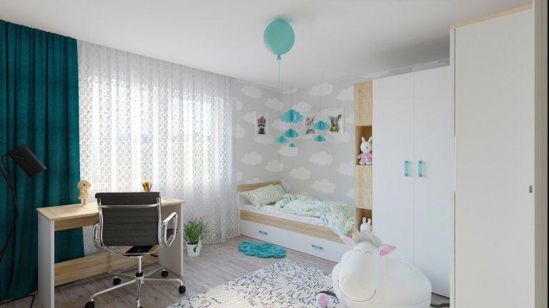 Vizualizace dětského pokojíku v rodinném domě