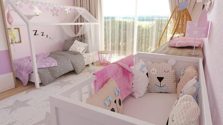 Dětský pokoj pro dvě malé holčičky
